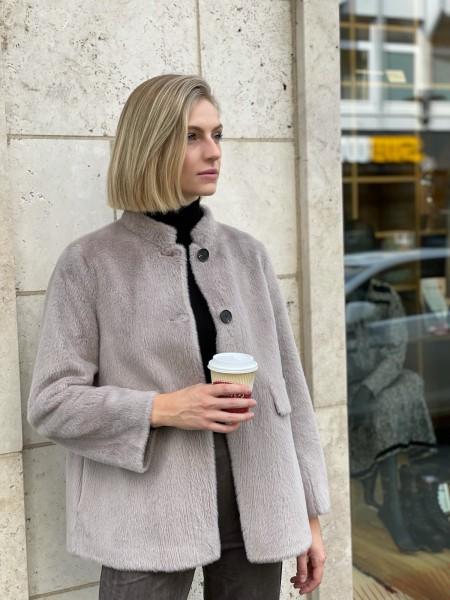 PRIDE TO BE Fake-Fur Jacke MELE SHORT
