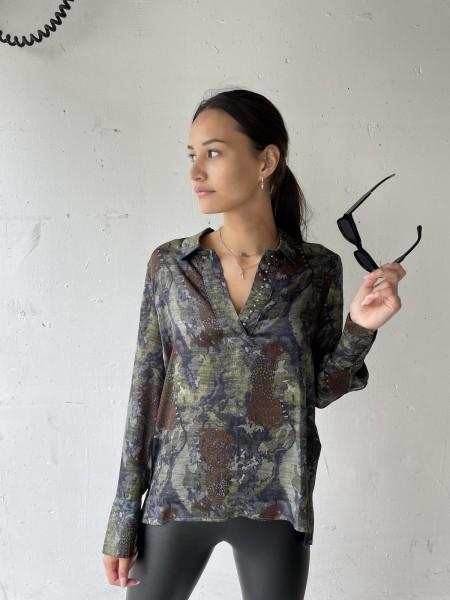 MASONS'S Bluse mit Tiger-Camouflage Print