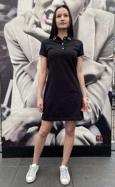 COLMAR Polo Kleid schwarz
